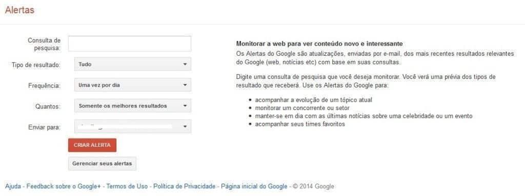 Alertas Google maneiras não convencional para conquistar novos visitantes