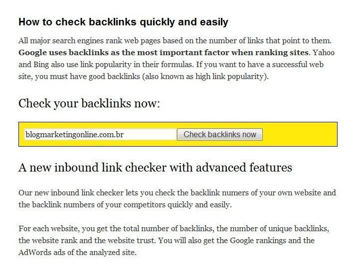 Free-Backlink-Checker
