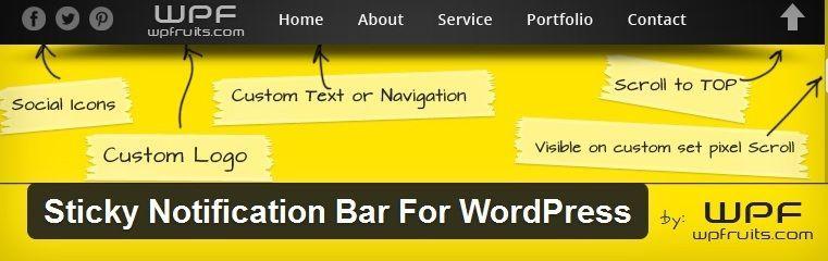 Sticky-Notification-Bar