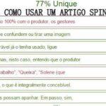 Artigo Spinner Reescrevendo Artigos Automaticamente (Página para parafrasear textos online)