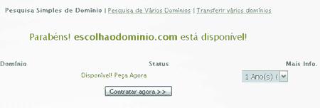 cadastrar dominio disponivel superdominios org