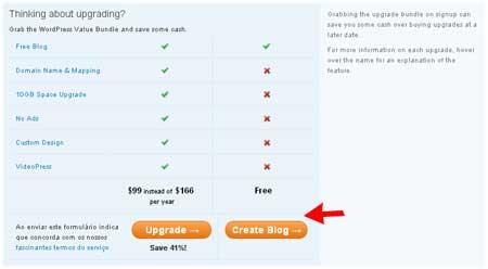 criando o blog gratis