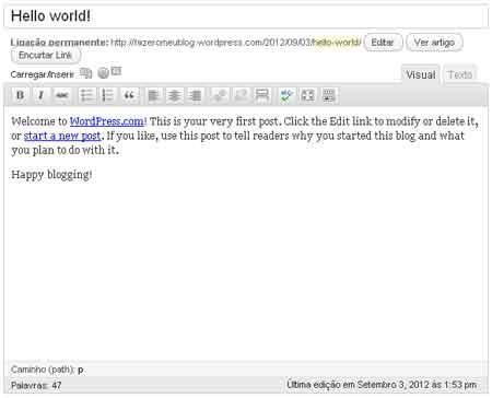 editando post wordpress