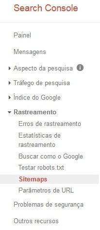 enviar sitemap search console google