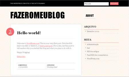 fazer o meu blog