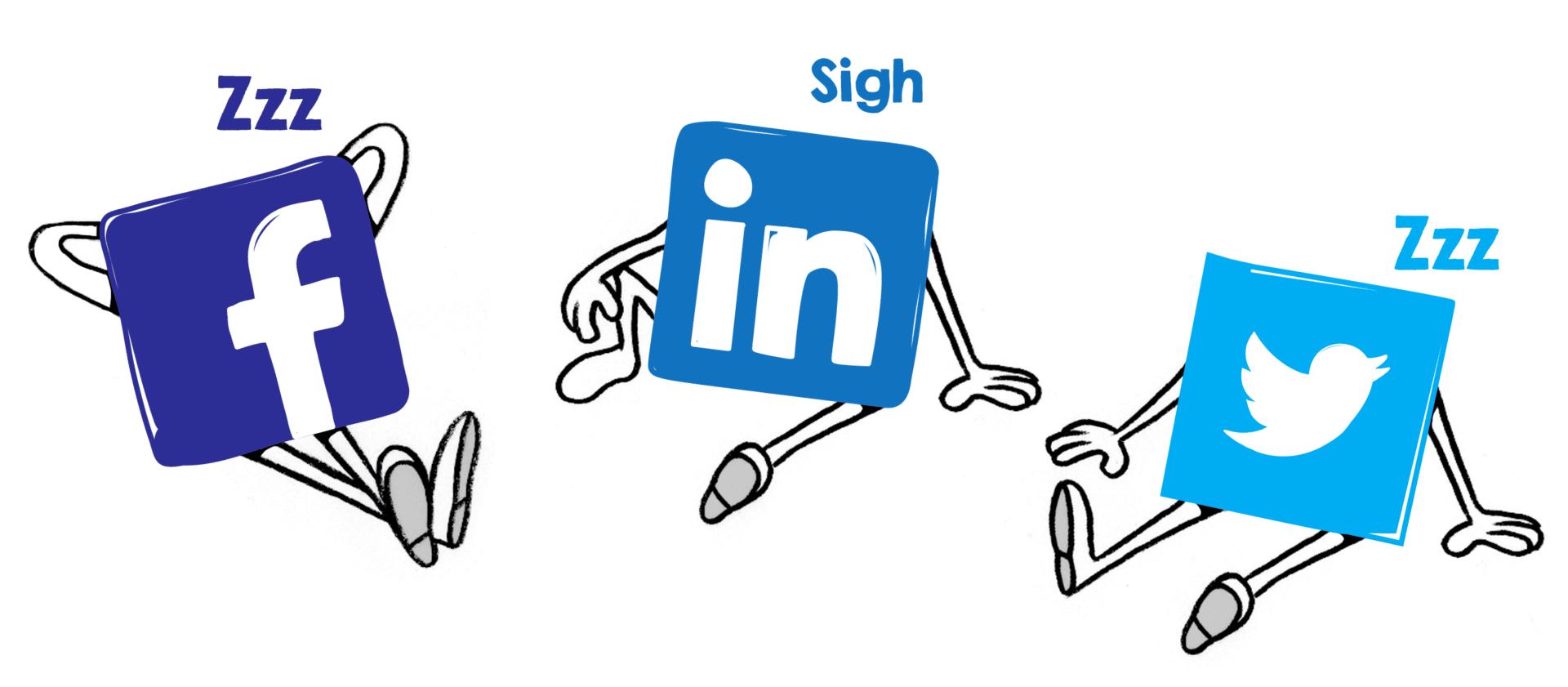 sinais de redes sociais
