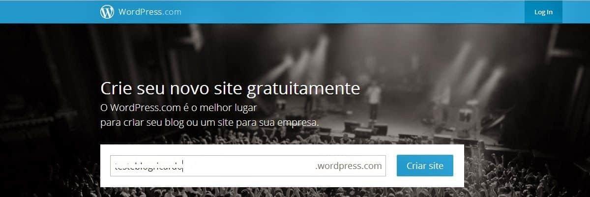 blog grátis no wordpress