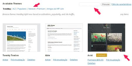 como encontrar temas gratis wordpress