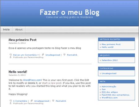 template do fazer o meu blog