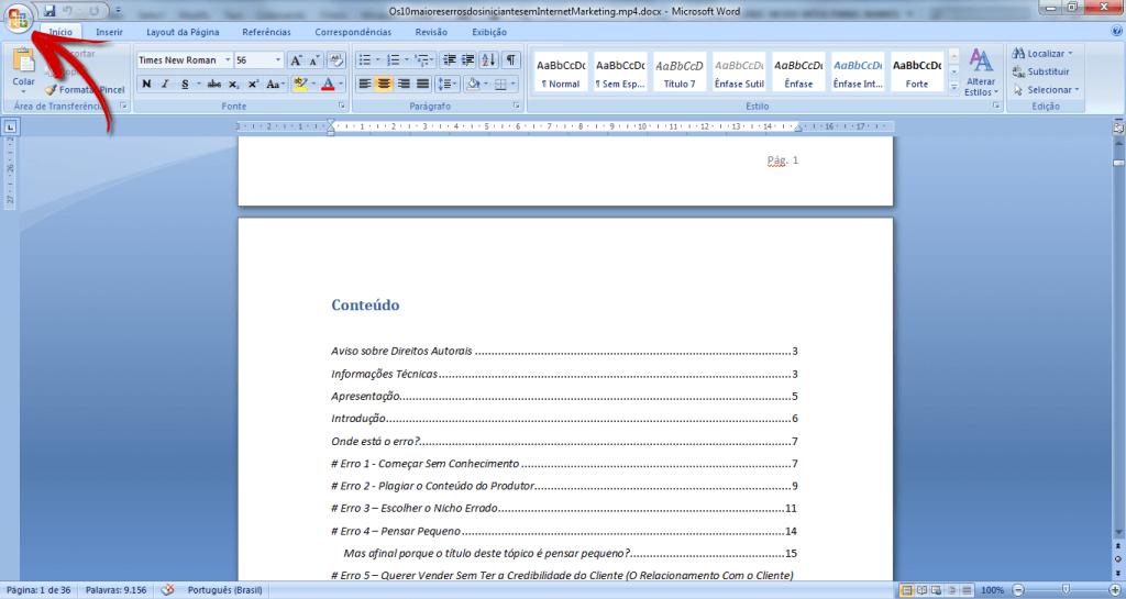 como converter word em pdf