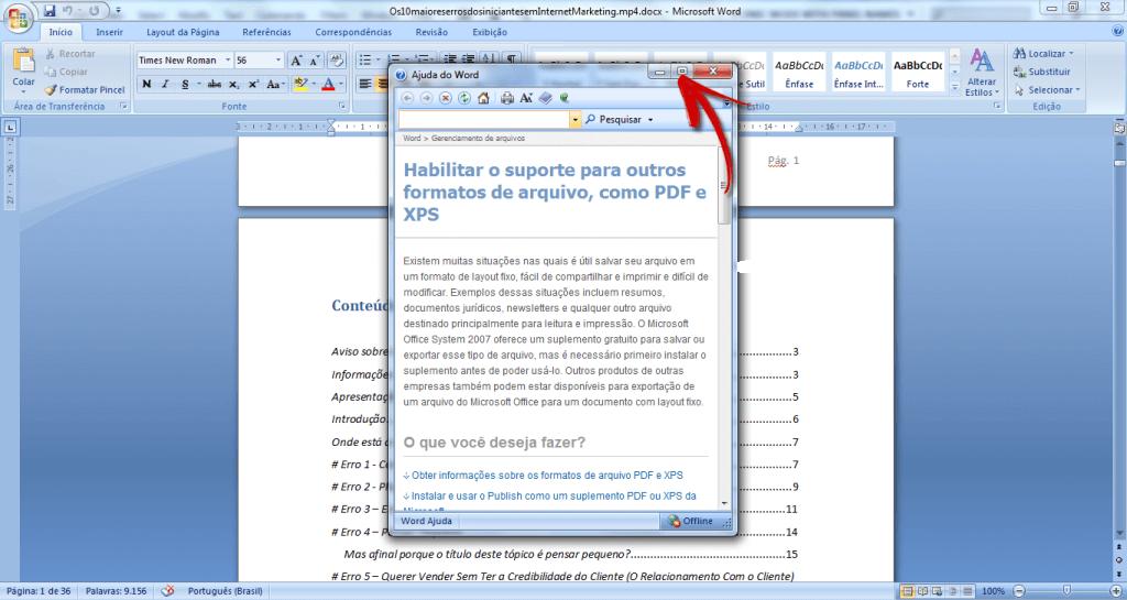 como converter arquivo de word para pdf