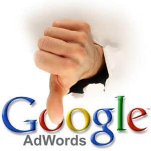 Anúncio Reprovado Adwords