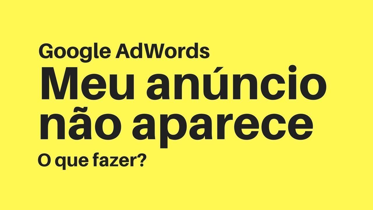 como corrigir um anúncio reprovado adwords