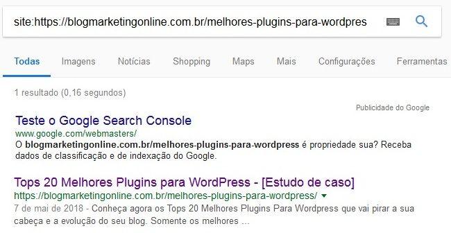 nova meta descrição indexada enviada search console