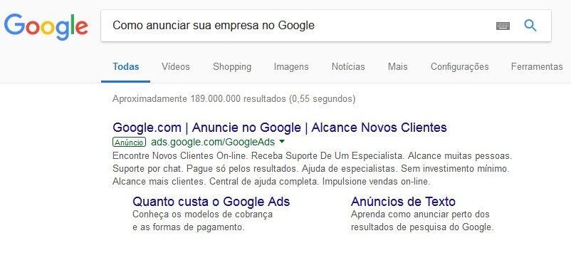 Como anunciar sua empresa no Google