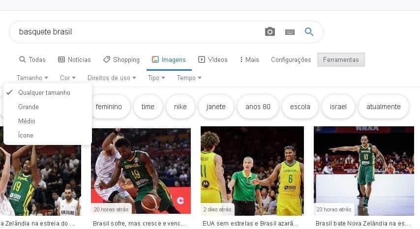 como pesquisar imagens no google